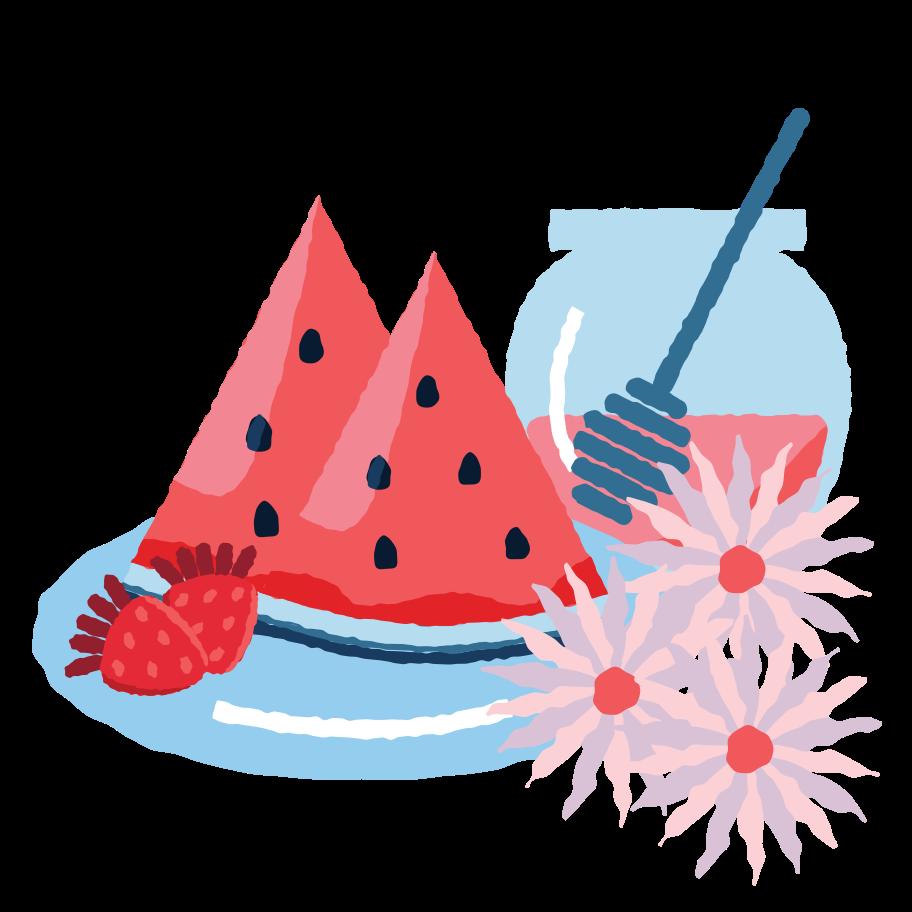 Summer desert Clipart illustration in PNG, SVG