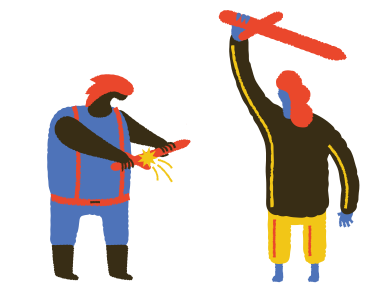 style Sword fighting images in PNG and SVG | Icons8 Illustrations