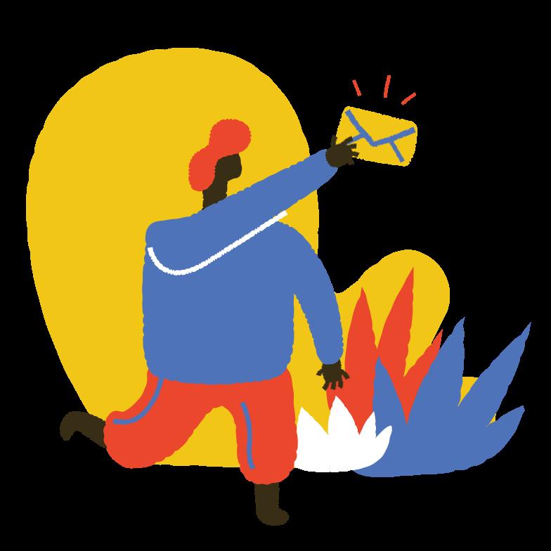 Mail a Letter Online Clipart illustration in PNG, SVG
