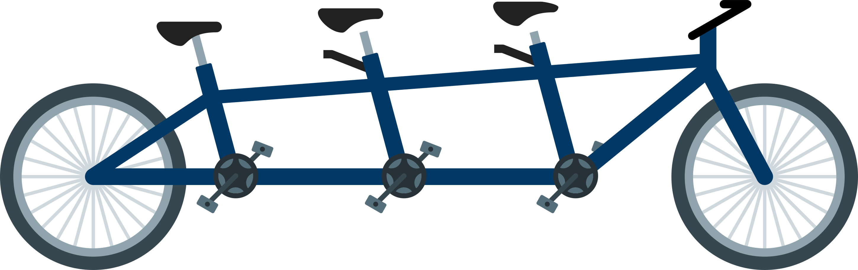 tandem bike Clipart illustration in PNG, SVG