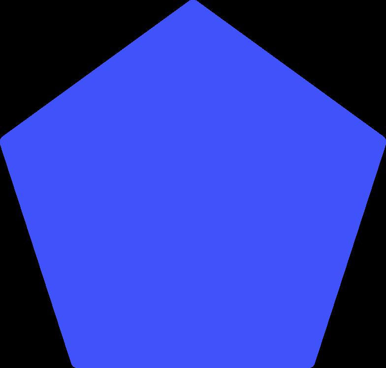Fünfeckform Clipart-Grafik als PNG, SVG