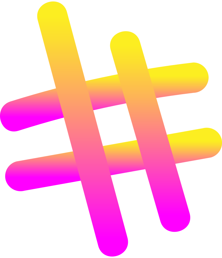 style rg pink yellow hashtag Vector images in PNG and SVG | Icons8 Illustrations