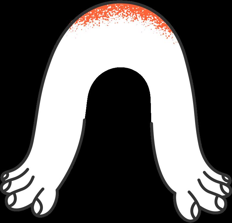 delete confirmation 2  hands Clipart illustration in PNG, SVG