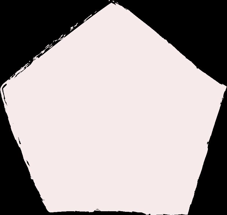 pentagon-light-pink Clipart illustration in PNG, SVG