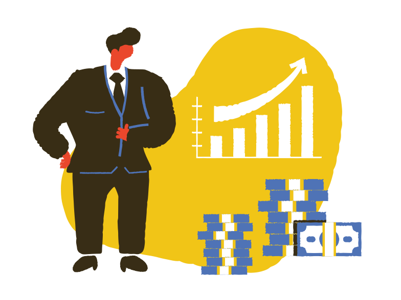Profitable growth Clipart illustration in PNG, SVG