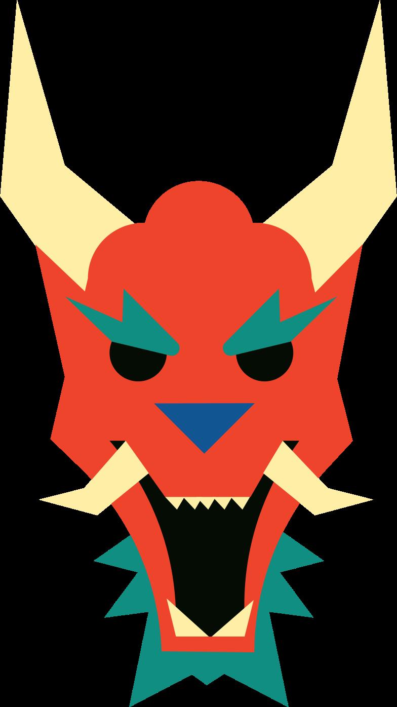 dragon mask Clipart illustration in PNG, SVG