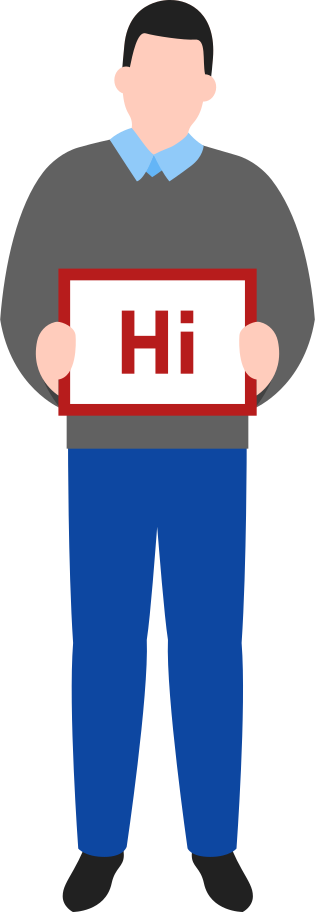 greeting man Clipart illustration in PNG, SVG