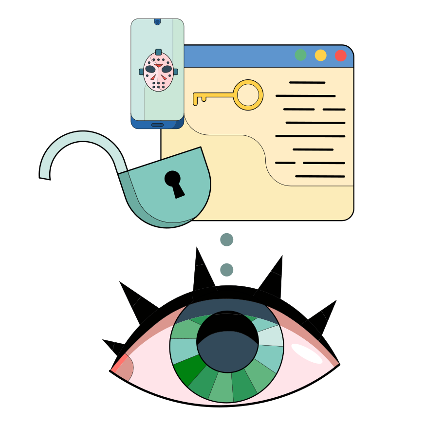 Network privacy Clipart illustration in PNG, SVG