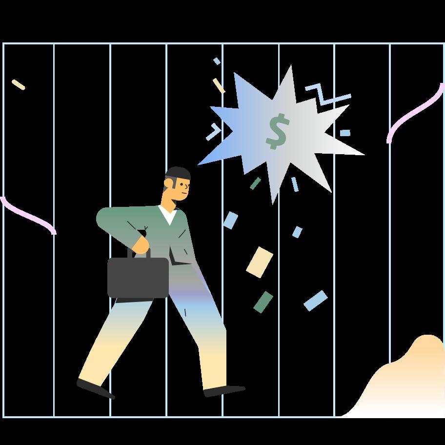 Ilustração de clipart de dinheiro na mente em PNG e SVG