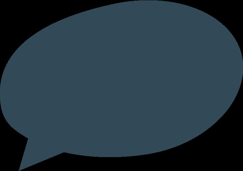 Иллюстрация речевой пузырь 2 темно-синий в стиле  в PNG и SVG | Icons8 Иллюстрации