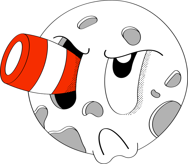 moon with fase Clipart illustration in PNG, SVG