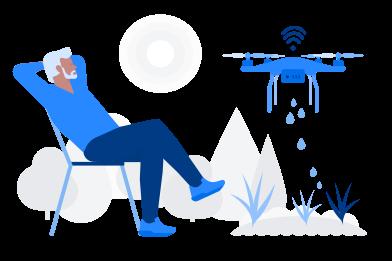 Иллюстрация Поливочный дрон в стиле  в PNG и SVG | Icons8 Иллюстрации