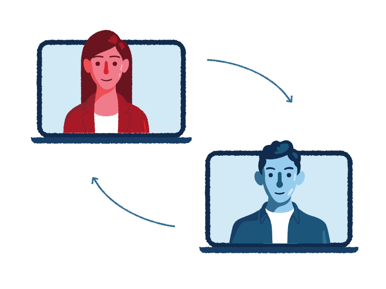 Remote meeting Clipart illustration in PNG, SVG