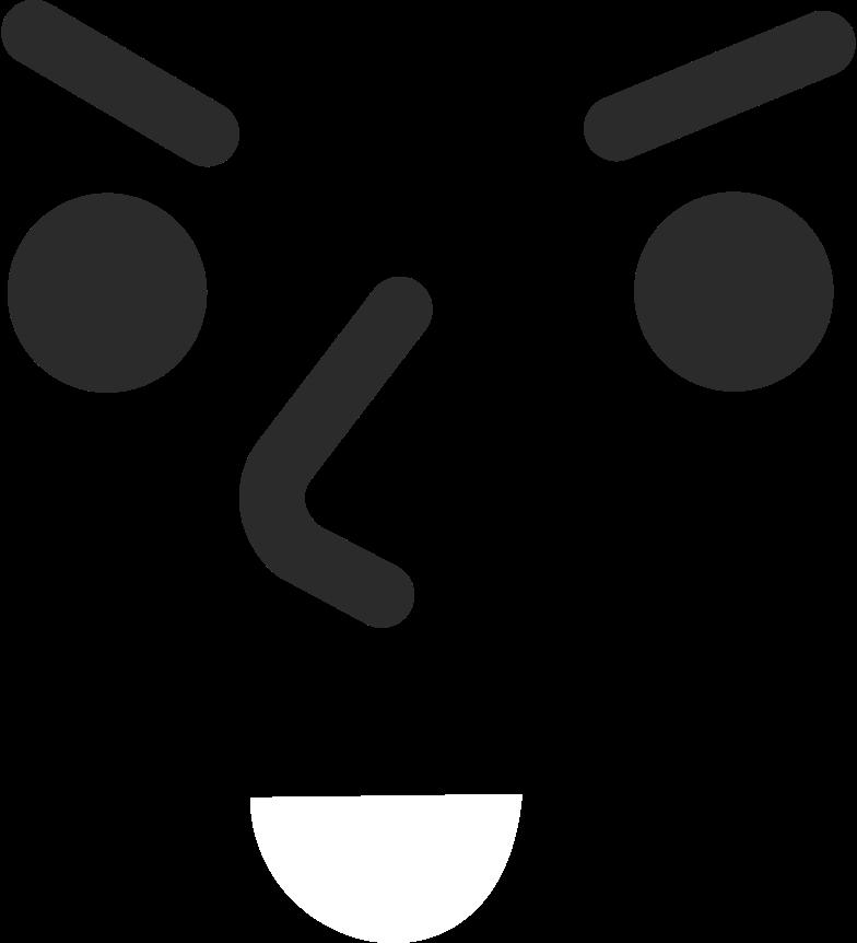 Gesicht böses lächeln Clipart-Grafik als PNG, SVG