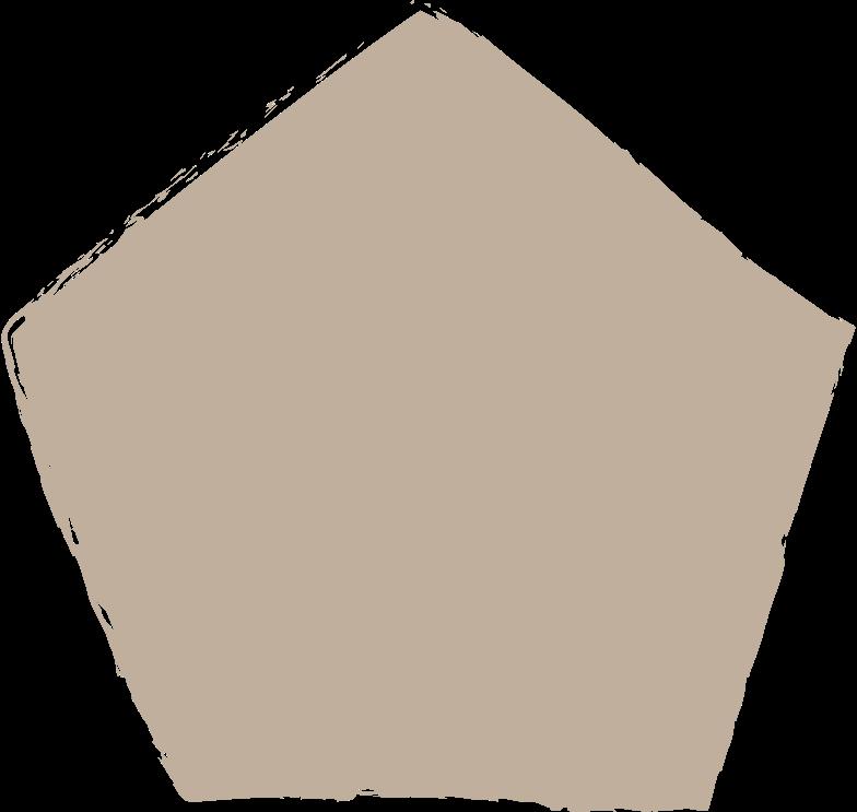 pentagon-light-grey Clipart illustration in PNG, SVG