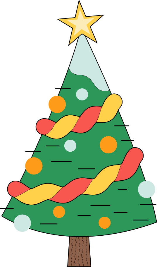 xmas tree Clipart illustration in PNG, SVG