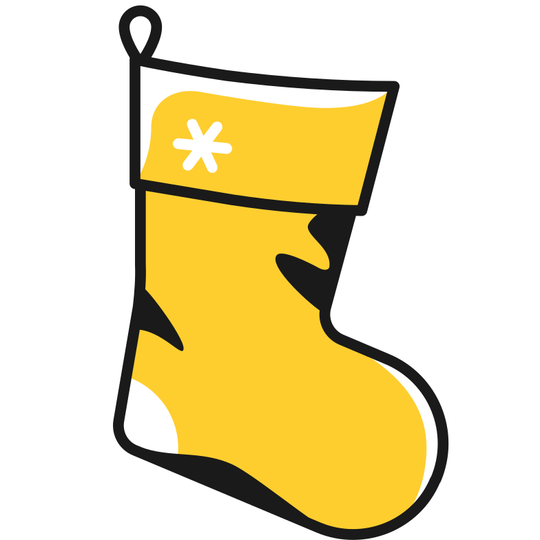 christmas stocking Clipart illustration in PNG, SVG