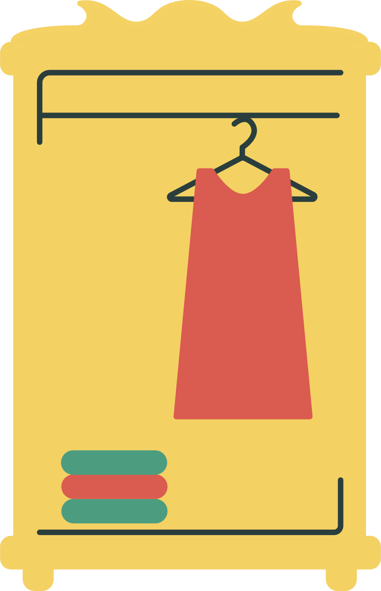 style closet with clothes Vector images in PNG and SVG | Icons8 Illustrations