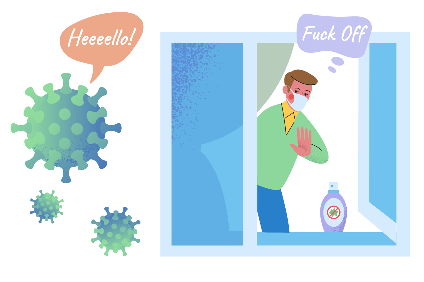 style Virus, Fuck Off! Vector images in PNG and SVG   Icons8 Illustrations