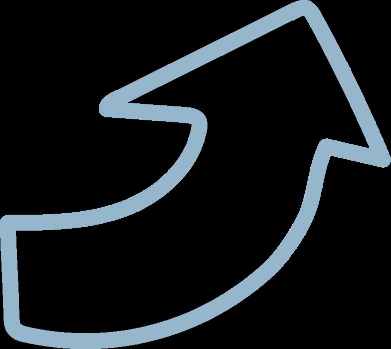 tk blue arrow Clipart illustration in PNG, SVG