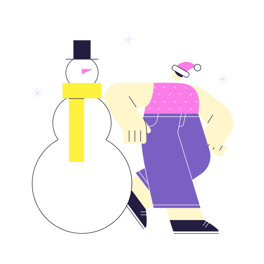style Building a snowman Vector images in PNG and SVG | Icons8 Illustrations