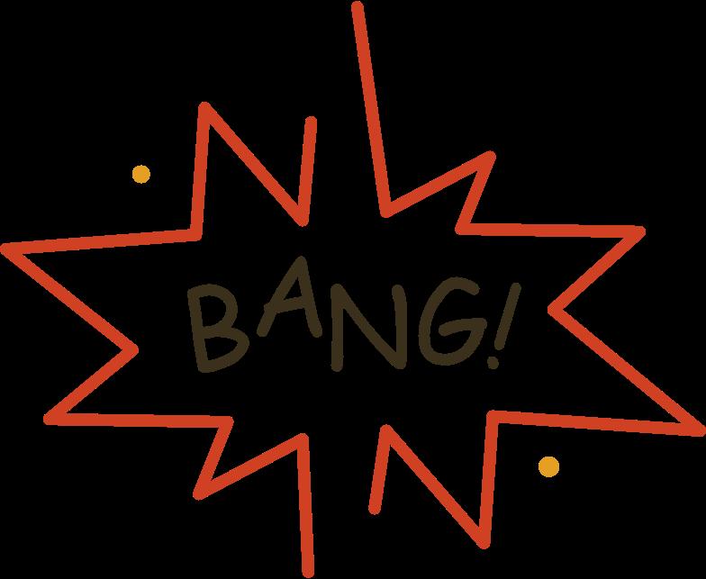 bang Clipart illustration in PNG, SVG