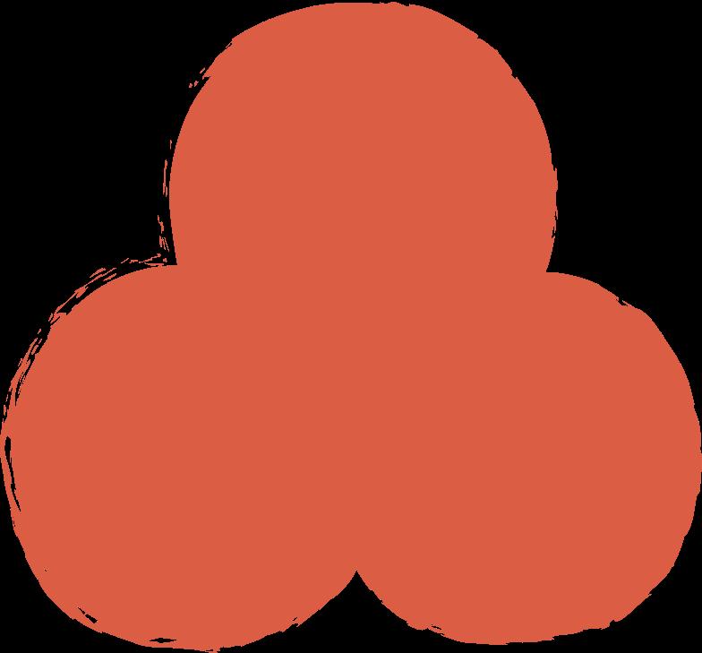 trefoil-red Clipart illustration in PNG, SVG