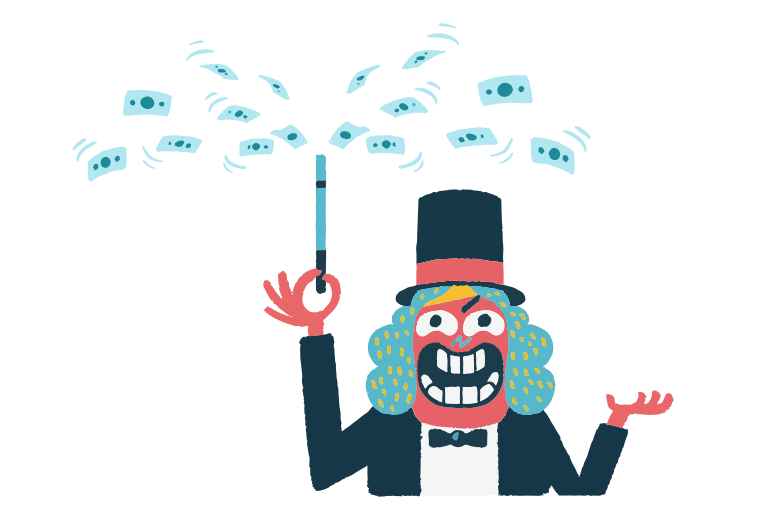 Magic money Clipart illustration in PNG, SVG