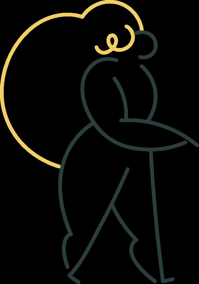Ilustración de clipart de Chica va en PNG, SVG