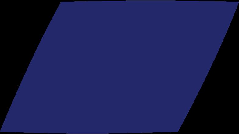 parallelogram dark blue Clipart illustration in PNG, SVG