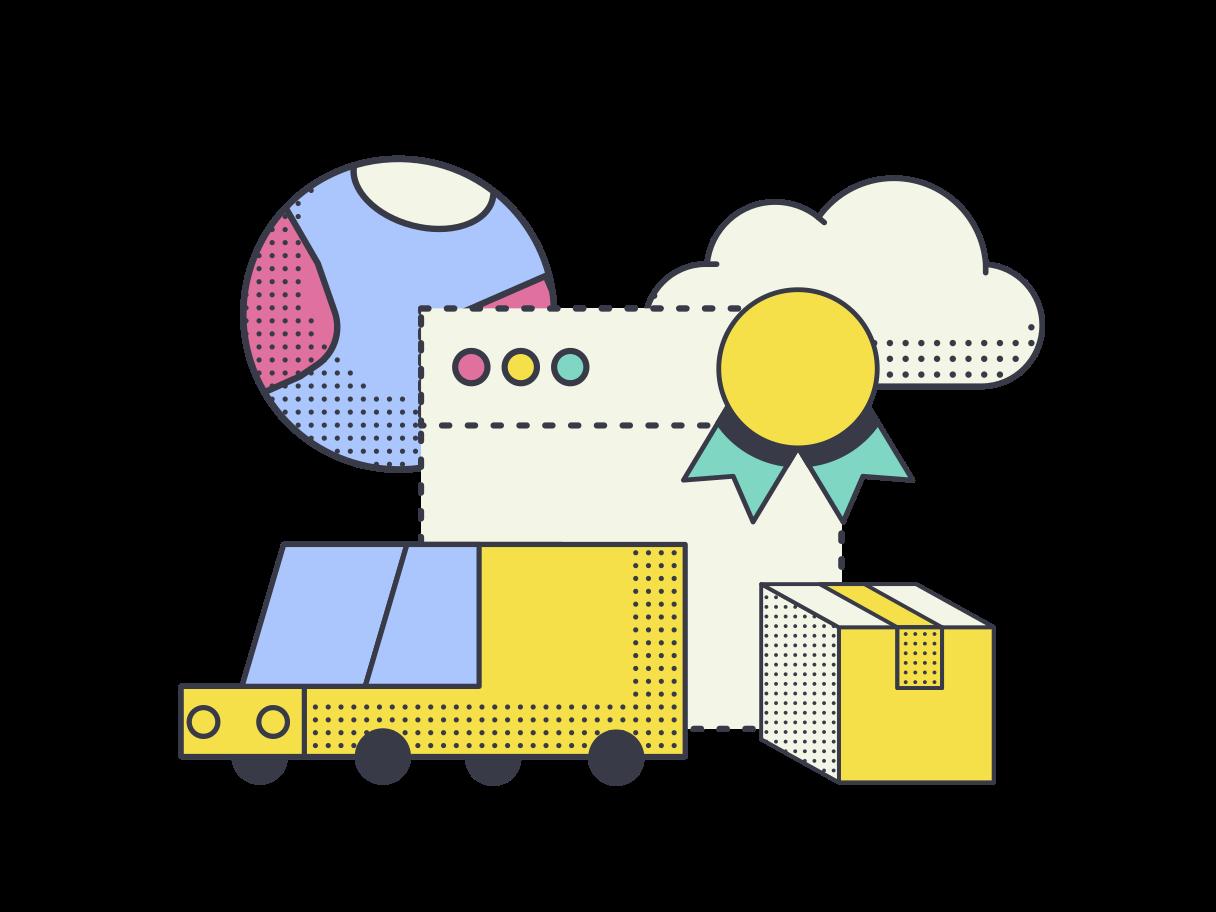Best delivery service  Clipart illustration in PNG, SVG