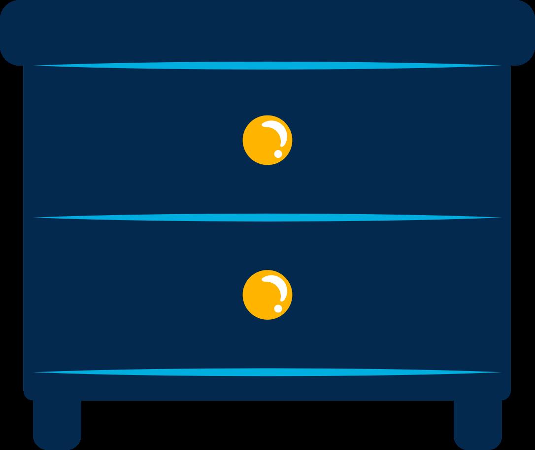 bedside table Clipart illustration in PNG, SVG