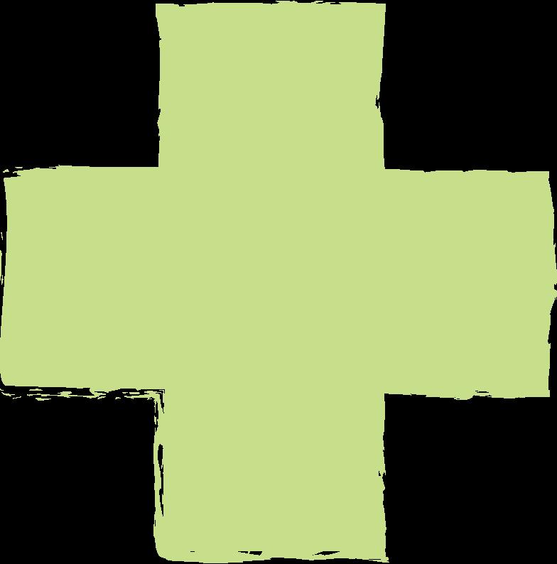 cross-light-green Clipart illustration in PNG, SVG