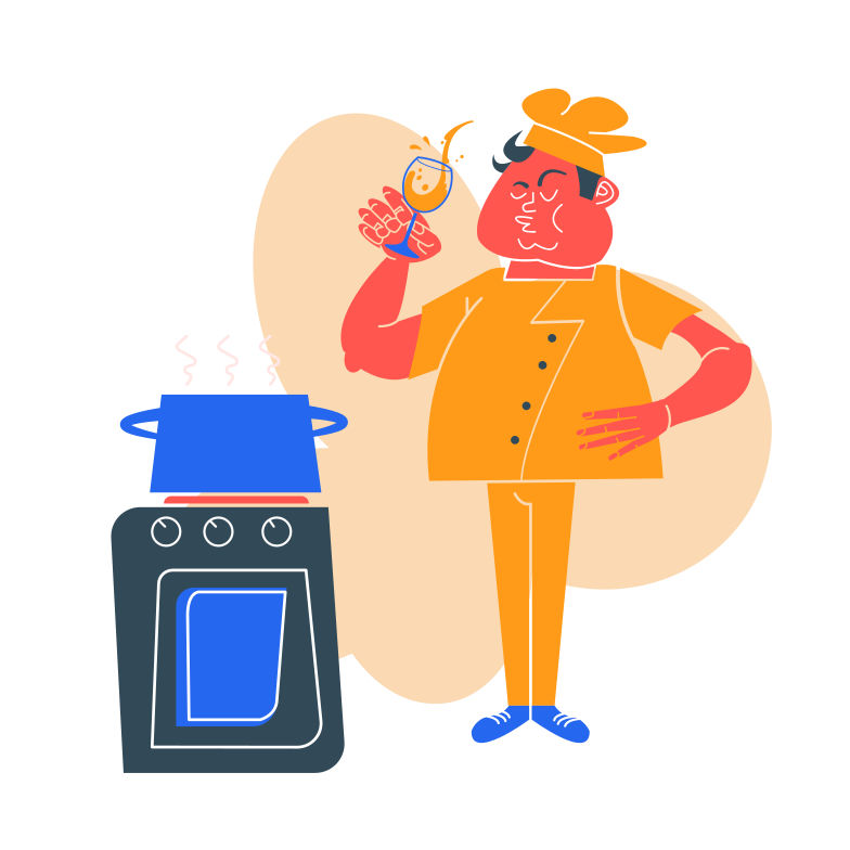 style The cook is drinking Vector images in PNG and SVG | Icons8 Illustrations
