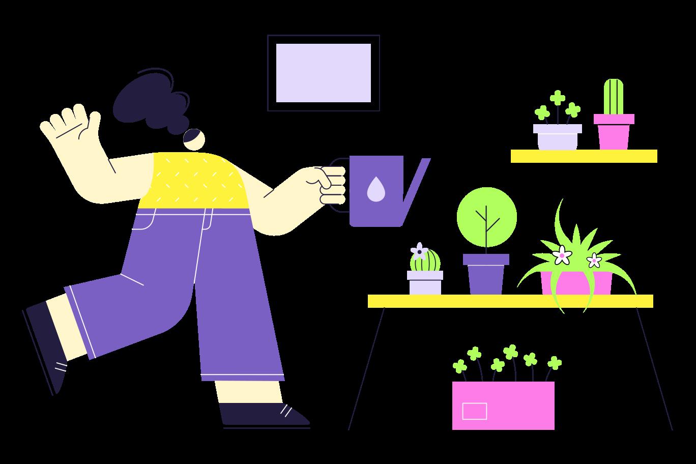 Home Gardener Clipart illustration in PNG, SVG