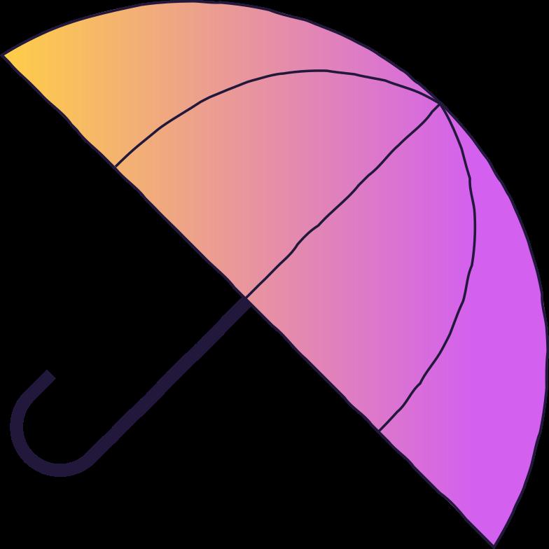 waiting  umbrella Clipart illustration in PNG, SVG