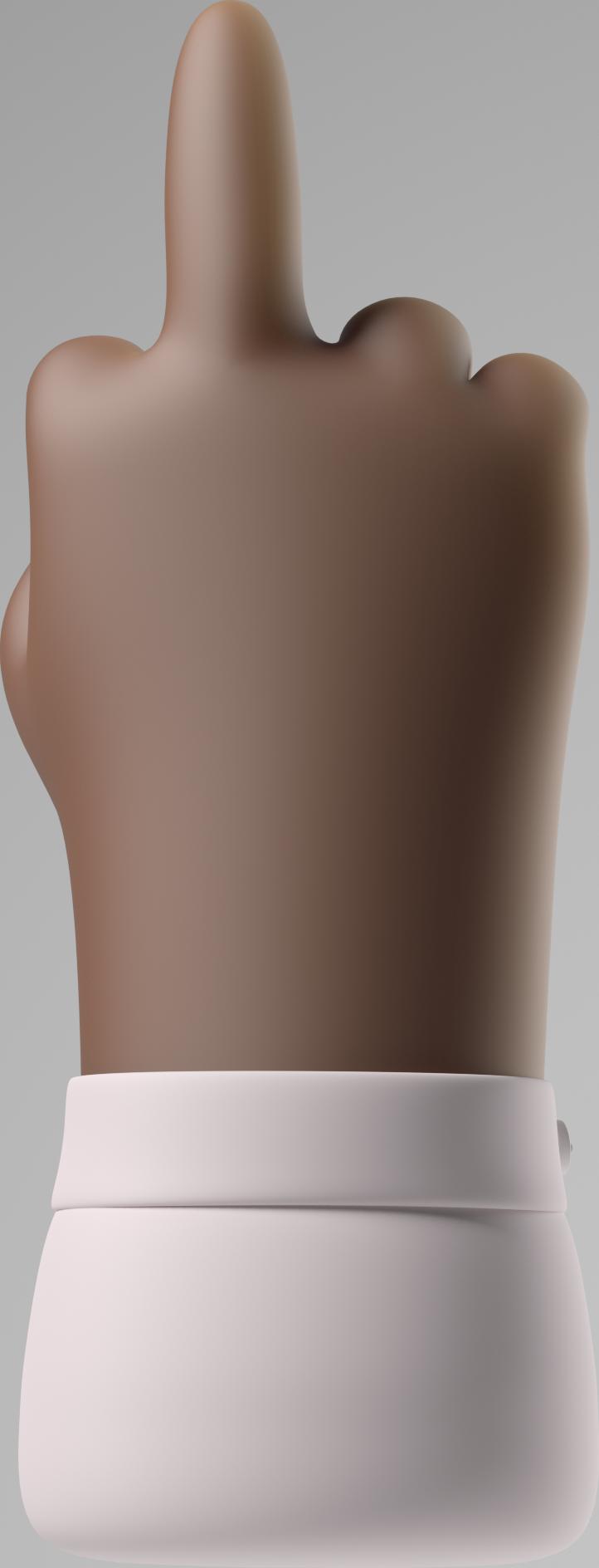 middle finger Clipart illustration in PNG, SVG
