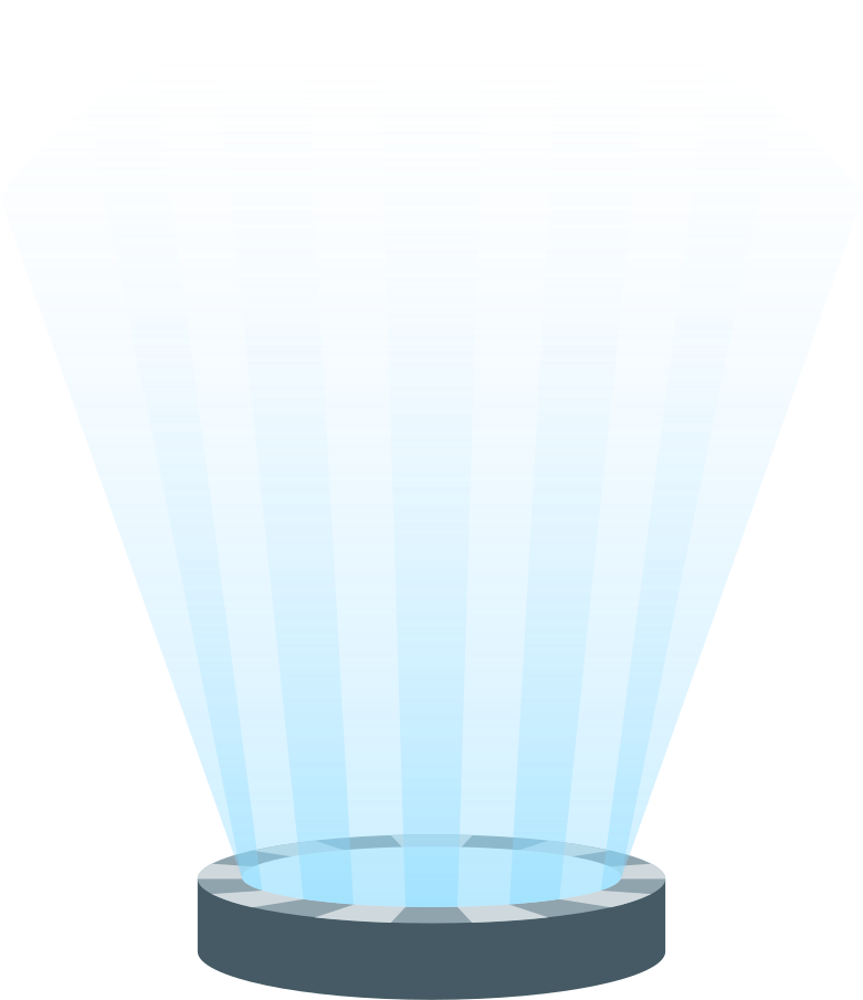 holographic projector Clipart illustration in PNG, SVG
