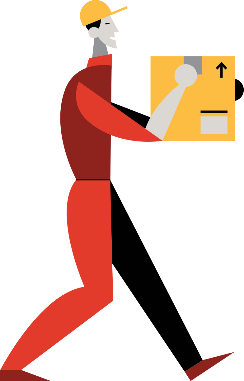 style delivery man Vector images in PNG and SVG | Icons8 Illustrations