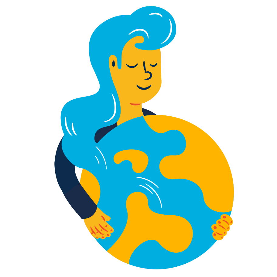 Mother Earth Clipart illustration in PNG, SVG