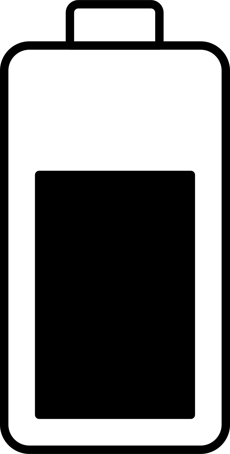 half charged battery Clipart illustration in PNG, SVG