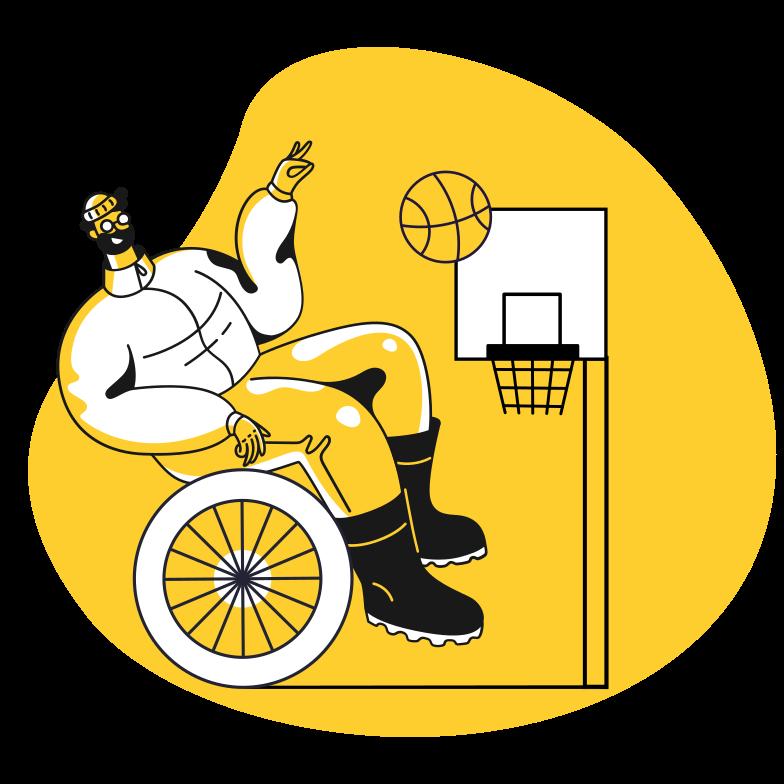 Ilustración de clipart de Juegos paralímpicos en PNG, SVG