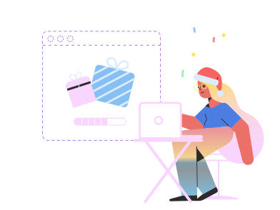 style Christmas shopping online images in PNG and SVG | Icons8 Illustrations