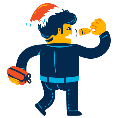 style Man celebrates the New year images in PNG and SVG | Icons8 Illustrations