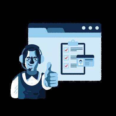 Иллюстрация интернет сервис в стиле  в PNG и SVG | Icons8 Иллюстрации