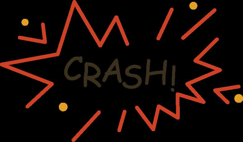 crash Clipart illustration in PNG, SVG