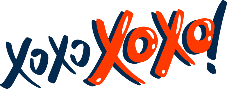xoxo Clipart illustration in PNG, SVG