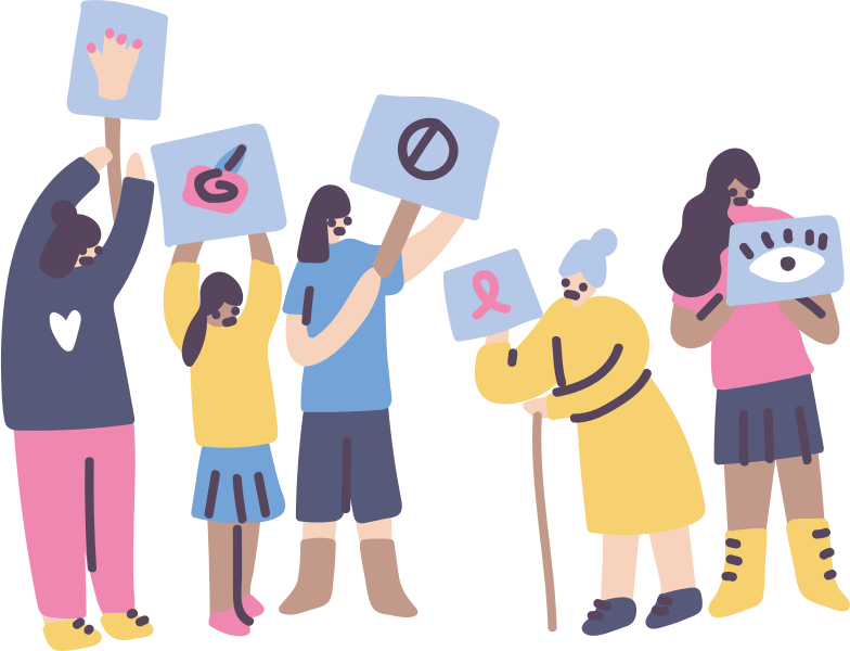 Feminism, fatal error Clipart illustration in PNG, SVG