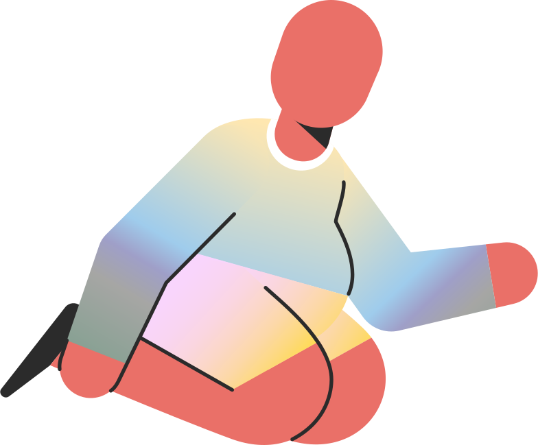 chubby child sitting on knees Clipart illustration in PNG, SVG