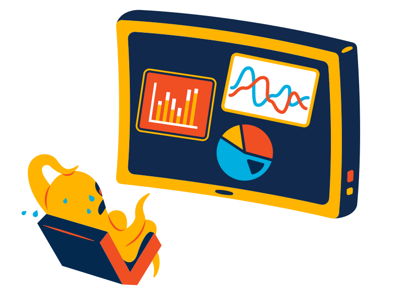 Scary statistics Clipart illustration in PNG, SVG